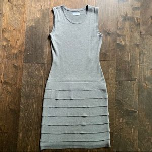 Calvin Klein Sleeveless Grey Sweater Dress